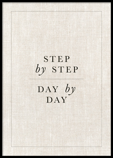 Step by Step Poster