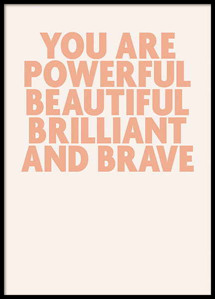 You Are Powerful Poster