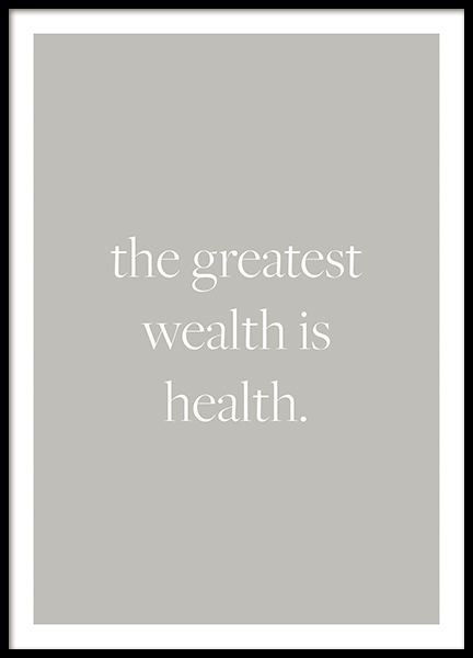 Health is Wealth Poster