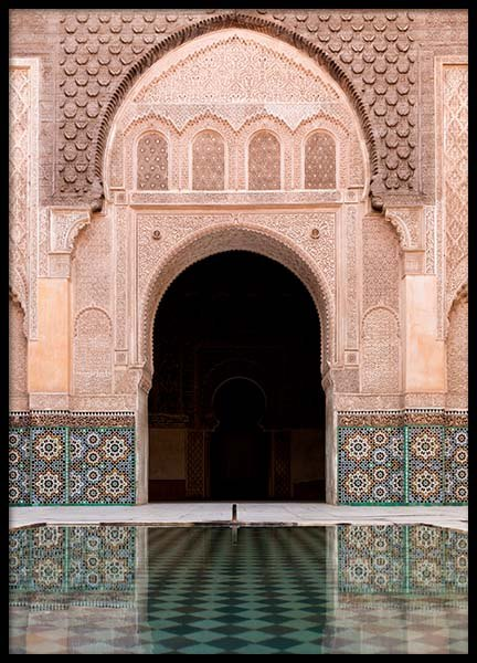 Marrakech Facade Poster in the group Prints / Sizes / 70x100cm | 28x39 at Desenio AB (2013)