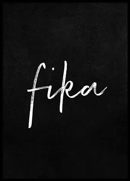 Fika Poster in the group Prints / Text posters at Desenio AB (2016)