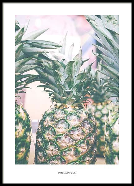 Pineapples Poster in the group Prints / Sizes / 50x70cm | 20x28 at Desenio AB (2022)