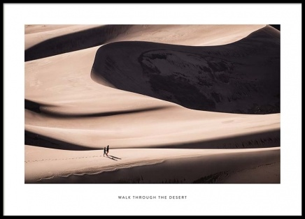 Walk Through The Desert Poster in the group Prints / Nature at Desenio AB (2024)
