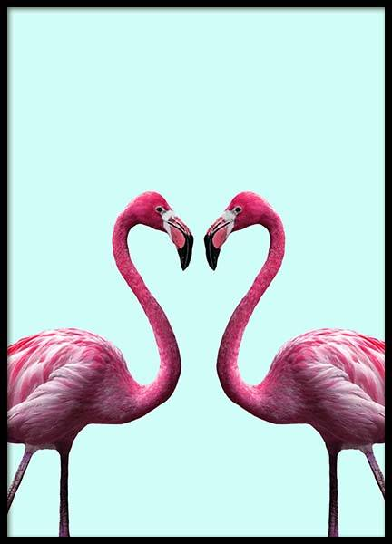 Flamingo Heart Poster in the group Prints / Animals at Desenio AB (2036)