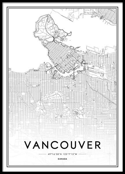 Vancouver Poster in the group Prints / Black & white at Desenio AB (2046)