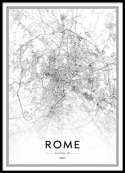 Rome Map Poster in the group Prints / Maps & cities at Desenio AB (2048)
