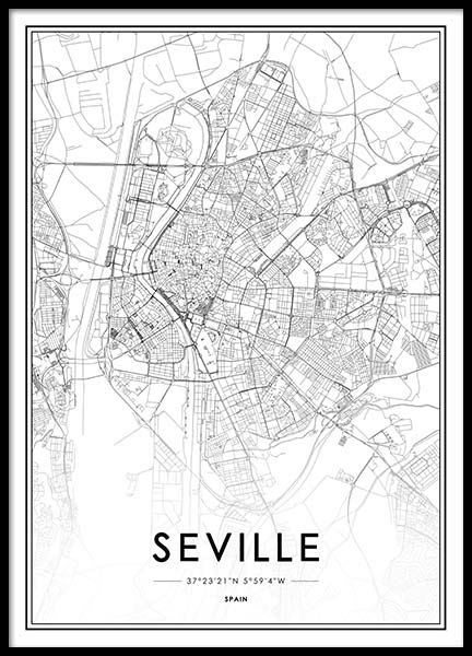Seville Poster in the group Prints / Black & white at Desenio AB (2052)