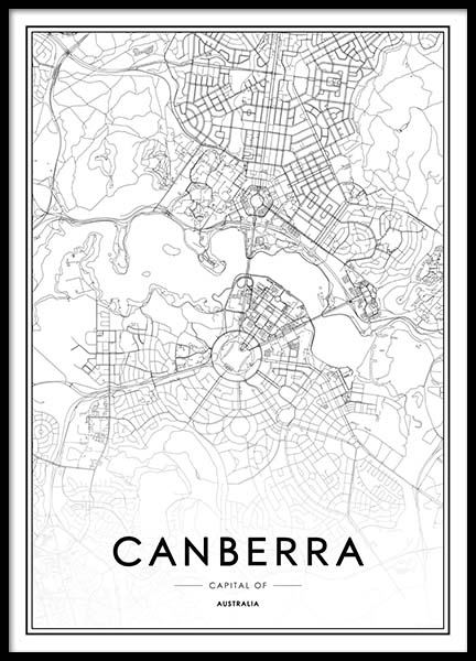 Canberra Poster in the group Prints / Maps & cities at Desenio AB (2053)