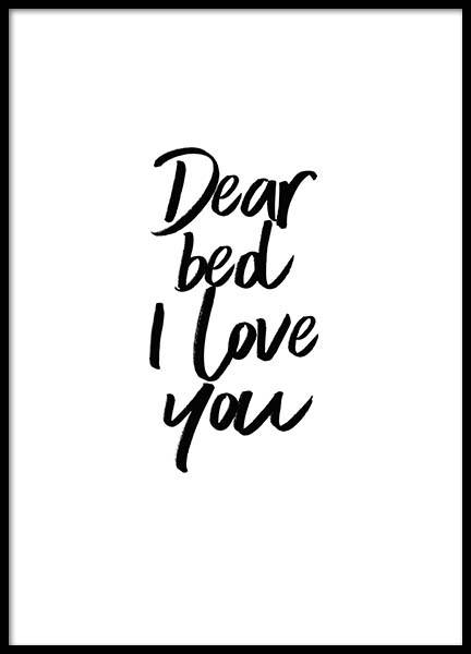 Dear Bed Poster in the group Prints / Sizes /  at Desenio AB (2058)