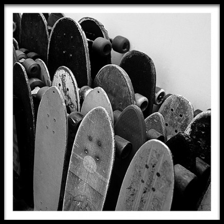 Rows Of Skateboards Poster in the group Prints / Kids at Desenio AB (2067)