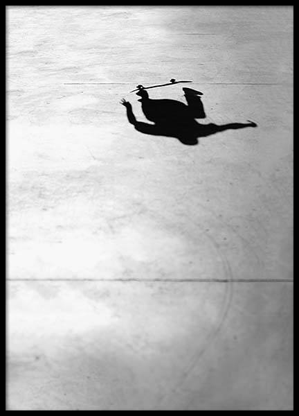 Skate Shadow Poster in the group Prints / Photographs at Desenio AB (2068)