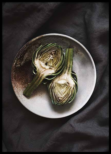 Artichoke Poster in the group Prints / Sizes / 50x70cm | 20x28 at Desenio AB (2126)