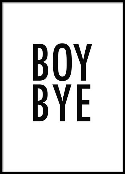 Boy Bye Poster in the group Prints / Sizes /  at Desenio AB (2189)