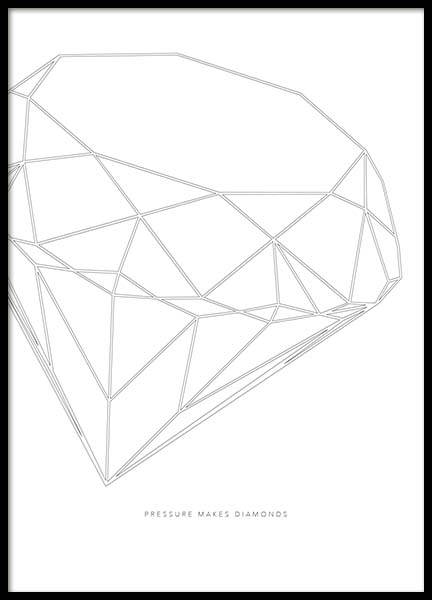 Pressure Makes Diamonds Poster in the group Prints / Sizes / 50x70cm | 20x28 at Desenio AB (2190)