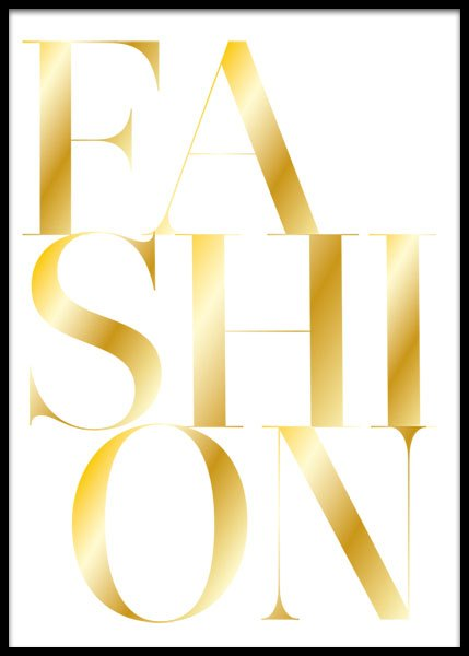 Fashion Gold  Poster in the group Prints / Gold & silver at Desenio AB (2209)