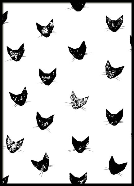 Cat Pattern  Poster in the group Prints / Kids posters at Desenio AB (2220)