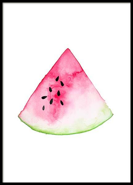 Watermelon Aquarelle  Poster in the group Prints / Sizes / 30x40cm | 12x16 at Desenio AB (2221)
