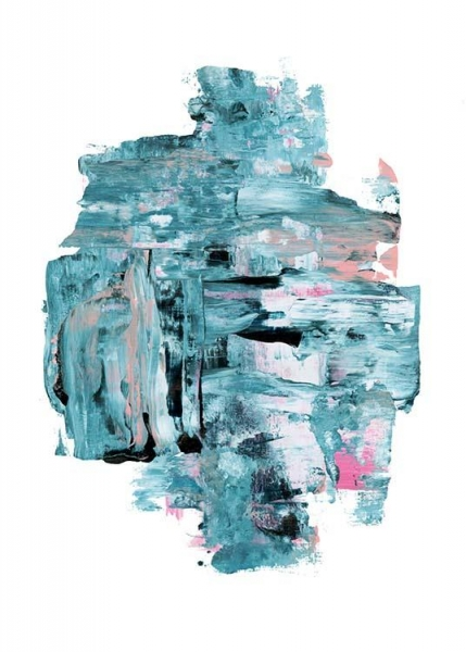 Abstract blue  Poster in the group Prints / Sizes / 50x70cm | 20x28 at Desenio AB (2244)
