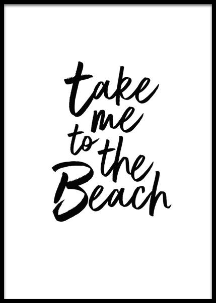 Take Me To The Beach  Poster in the group Prints / Text posters at Desenio AB (2253)