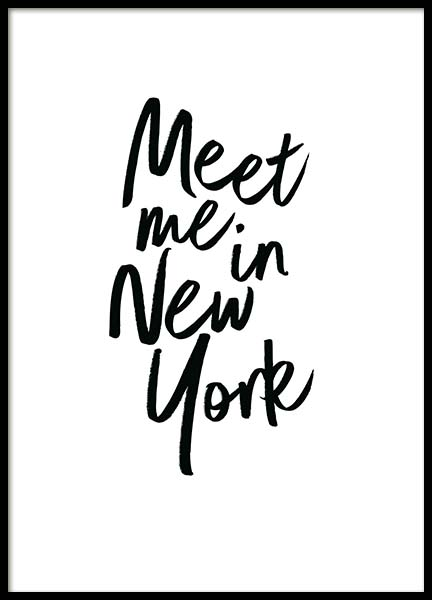Meet Me In New York  Poster in the group Prints / Text posters at Desenio AB (2254)
