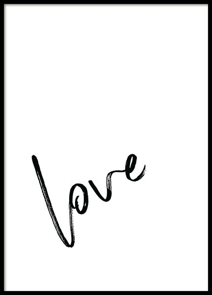 Love Note  Poster in the group Prints / Sizes / 30x40cm | 12x16 at Desenio AB (2258)