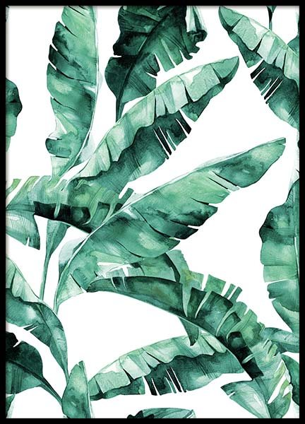 Banana Leaves Pattern Poster in the group Prints / Art prints at Desenio AB (2285)