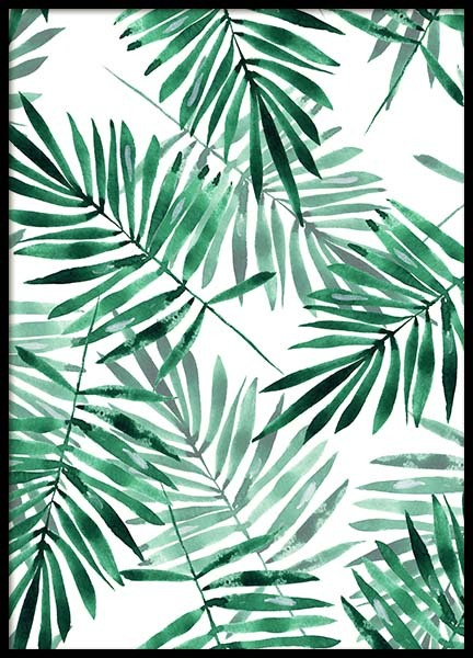 Palm Leaves Pattern Poster in the group Prints / Art prints at Desenio AB (2286)