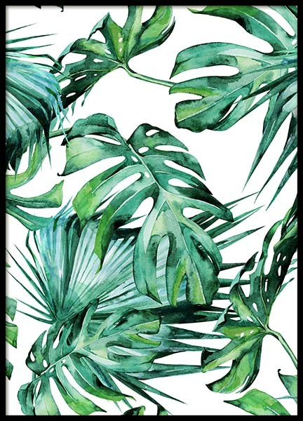 Tropical Leaves Pattern Poster in the group Prints / Floral at Desenio AB (2287)