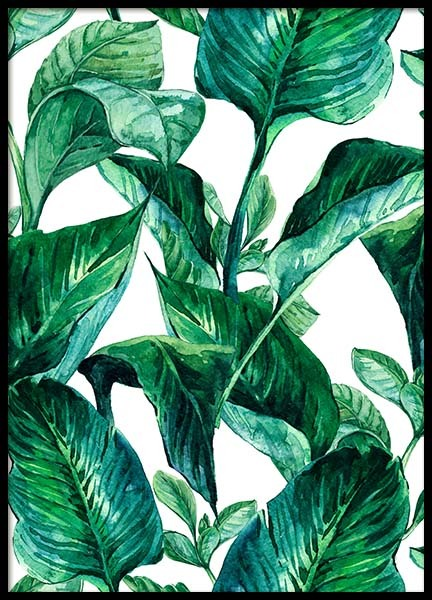 Green leaves pattern Poster in the group Prints / Sizes / 50x70cm | 20x28 at Desenio AB (2288)