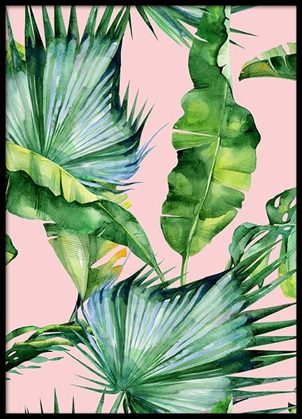 Tropical pattern Poster in the group Prints / Sizes / 50x70cm | 20x28 at Desenio AB (2289)