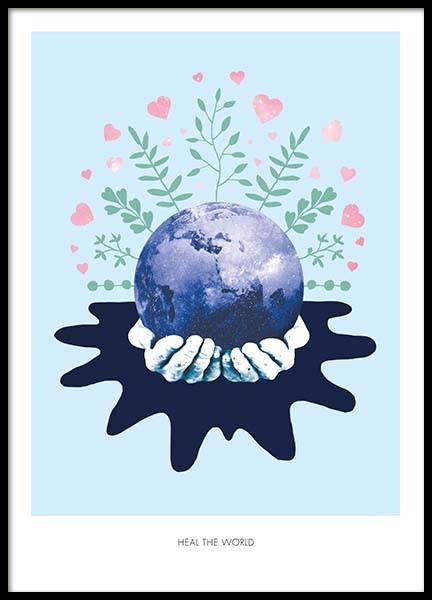 Heal The World Poster in the group Prints / Sizes / 50x70cm | 20x28 at Desenio AB (2366)