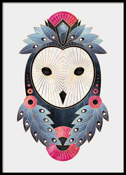 Graphic Owl Poster in the group Prints / Graphical at Desenio AB (2372)