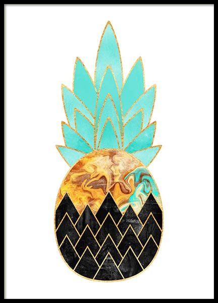 Graphic Pineapple 2 Poster in the group Prints / Sizes / 50x70cm | 20x28 at Desenio AB (2374)