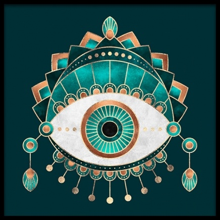 Teal Eye Poster in the group Prints / Graphical at Desenio AB (2375)