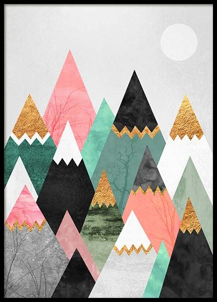 Pretty Mountains Poster in the group Prints / Graphical at Desenio AB (2379)