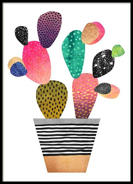 Happy Cactus Poster in the group Prints / Graphical at Desenio AB (2380)