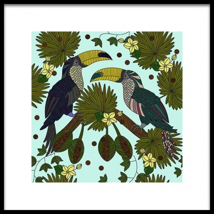 Tucan Lovers Poster in the group Prints / Illustrations at Desenio AB (2386)