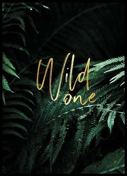 Wild One Poster in the group Prints / Sizes / 30x40cm | 12x16 at Desenio AB (2401)