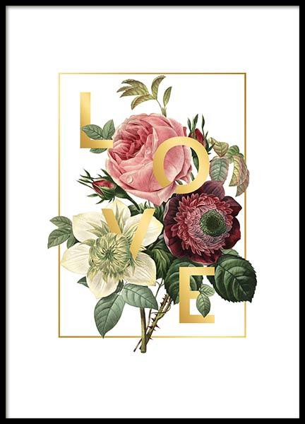 Love Flowers Poster in the group Prints / Text posters at Desenio AB (2404)