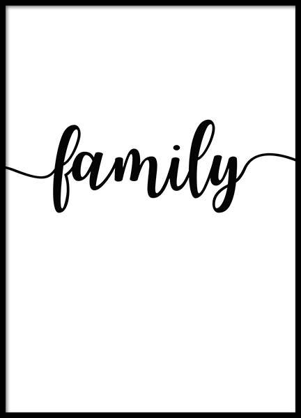 Family Poster in the group Prints / Typography & quotes at Desenio AB (2407)