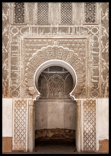 Marrakech Arch Poster in the group Prints / Photographs at Desenio AB (2418)