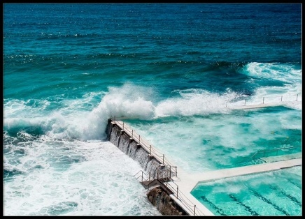 Bondi Beach Ocean Pool Poster in the group Prints / Photographs at Desenio AB (2423)