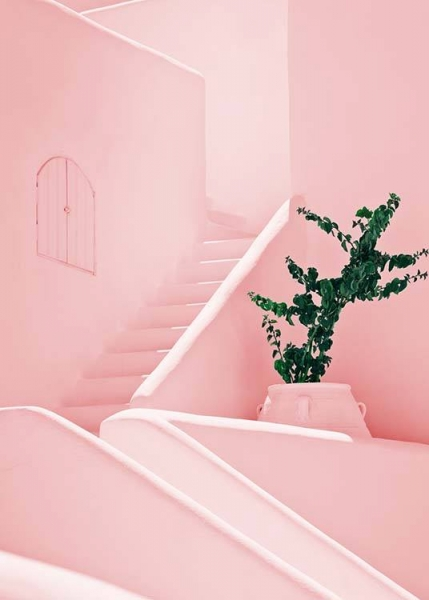 Pink Stairs Poster in the group Prints / Photographs at Desenio AB (2425)