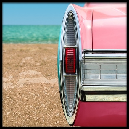 Pink Car Poster in the group Prints / Sizes / 50x50cm | 20x20 at Desenio AB (2443)