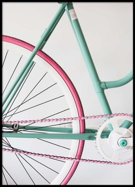 Pastel Bike Poster in the group Prints / Photographs at Desenio AB (2445)