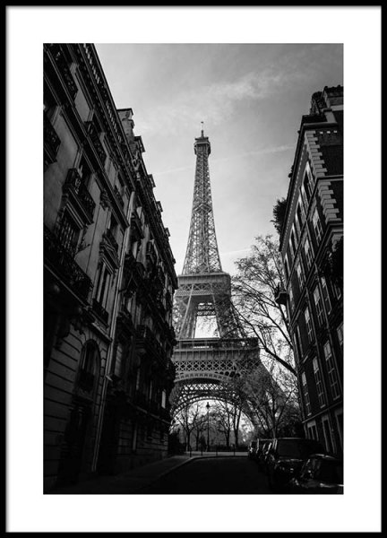 Street Of Paris Poster in the group Prints / Black & white at Desenio AB (2446)