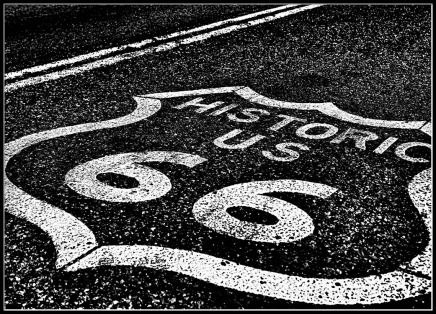 Route 66 Poster in the group Prints / Black & white at Desenio AB (2447)