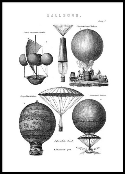 Vintage Balloons Poster in the group Prints / Vintage at Desenio AB (2451)