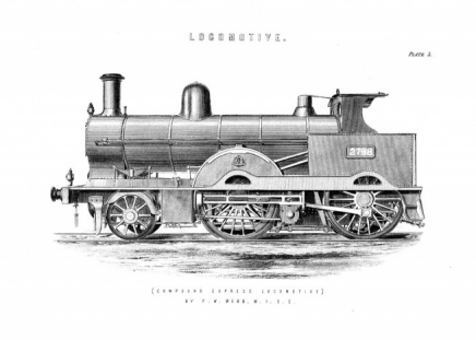 Vintage Locomotive Poster in the group Prints / Vintage at Desenio AB (2452)