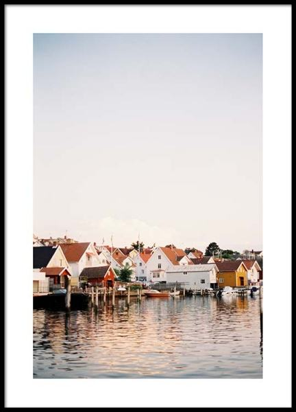 Boathouses Poster in the group Prints / Sizes / 50x70cm | 20x28 at Desenio AB (2458)